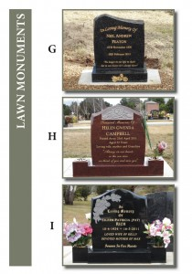 Lawn Monuments G-I